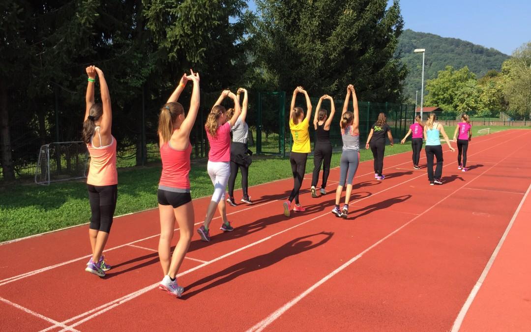 13.9.2015 – Pomlajena ekipa naših atletinj se že pridno pripravlja na jesenska tekmovanja