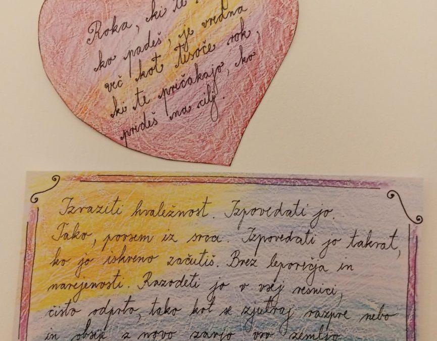 26. 1. 2021 – Teden pisanja z roko